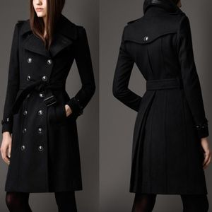 Burberry Regimental Long Cashmere-Wool Coat